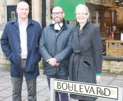 Colin Bradbury, Mike Jenkins, Aileen Edwards